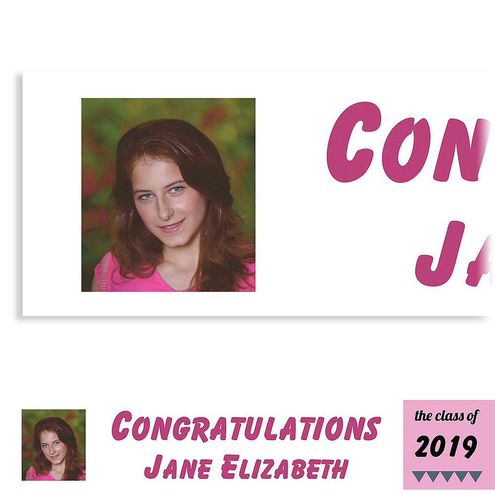 Custom Pink Pennant Banner Graduation Photo Banner  Image #1