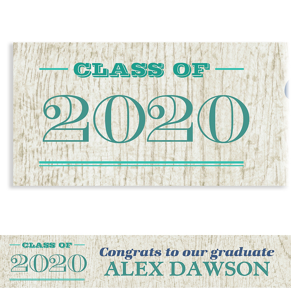 Custom Wood Graduation Banner  Image #1
