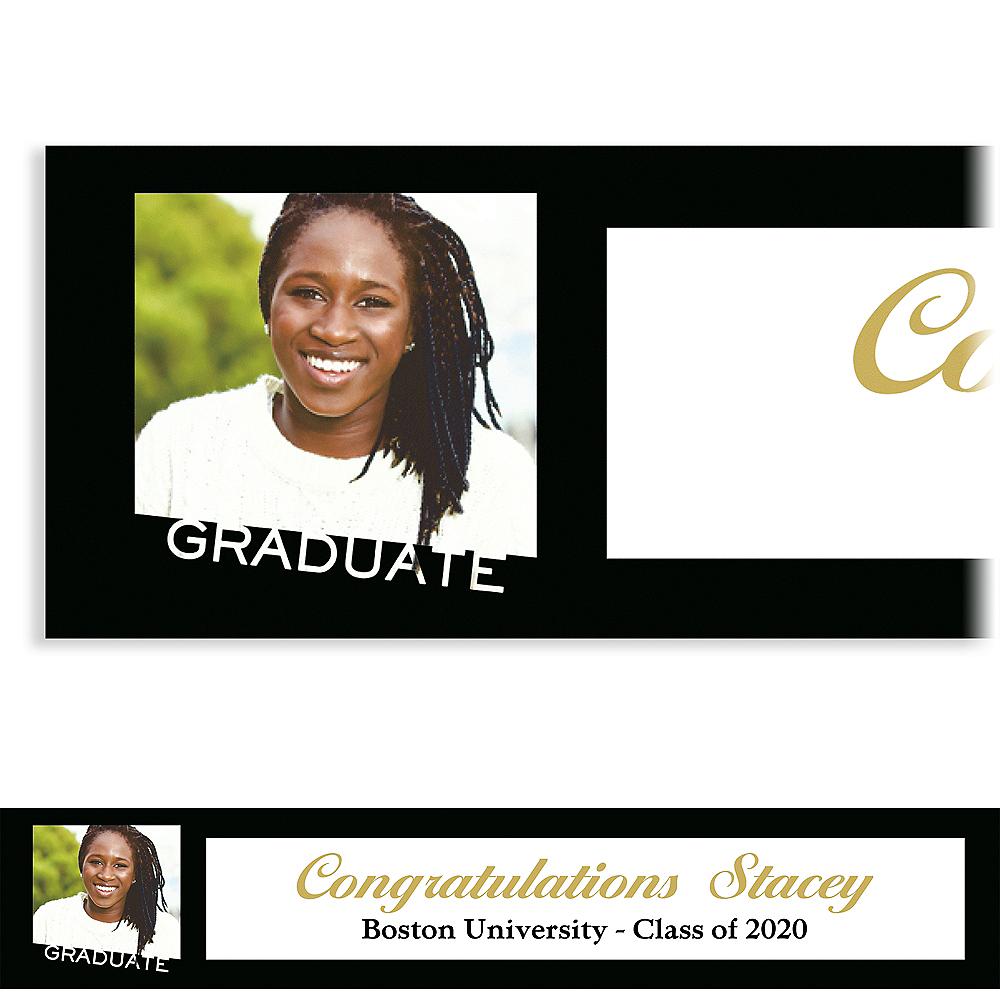 Custom Graduate Black Slant Photo Banner  Image #1