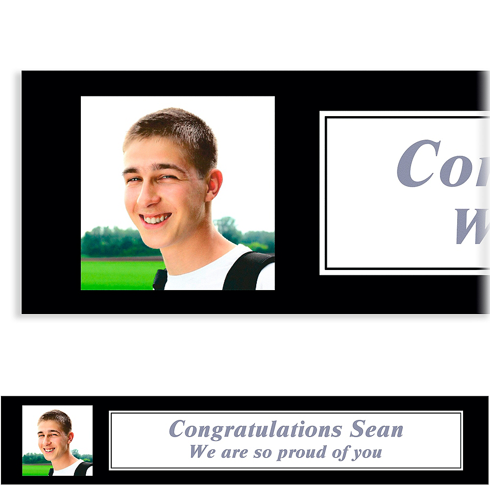 Nav Item for Custom Classic White Graduation Photo Banner    Image #1