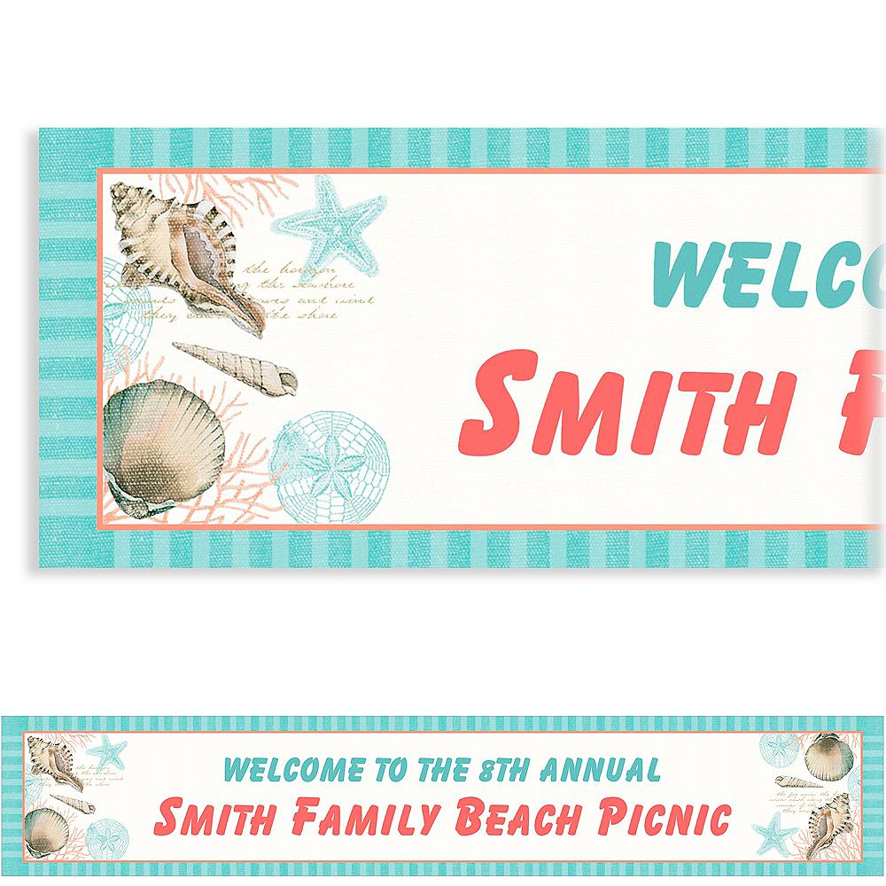 Custom By the Sea Seashell Banner Image #1