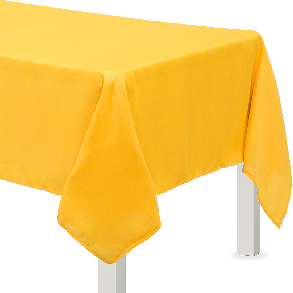 Sunshine Yellow Fabric Tablecloth Image #1