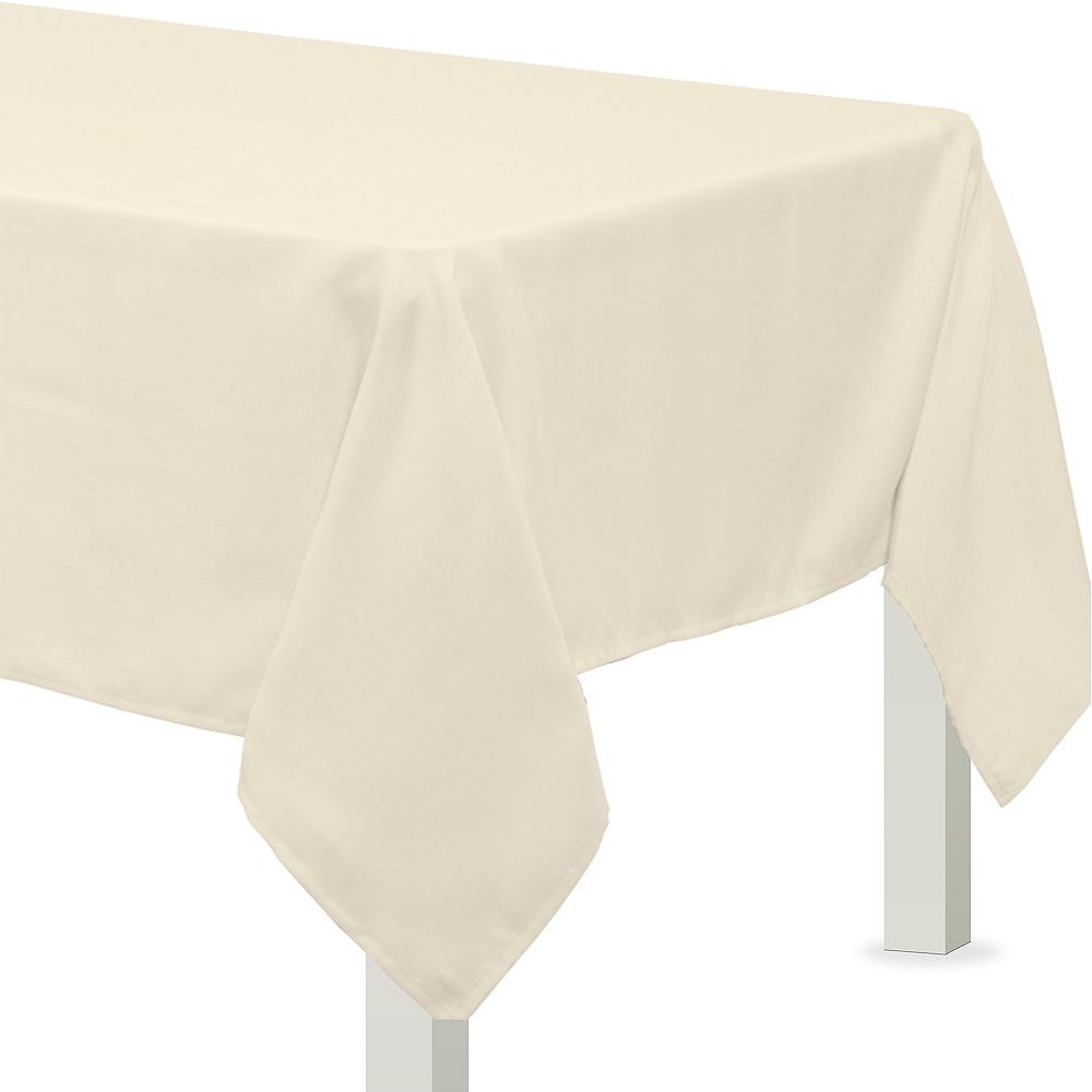 Vanilla Cream Fabric Tablecloth Image #1