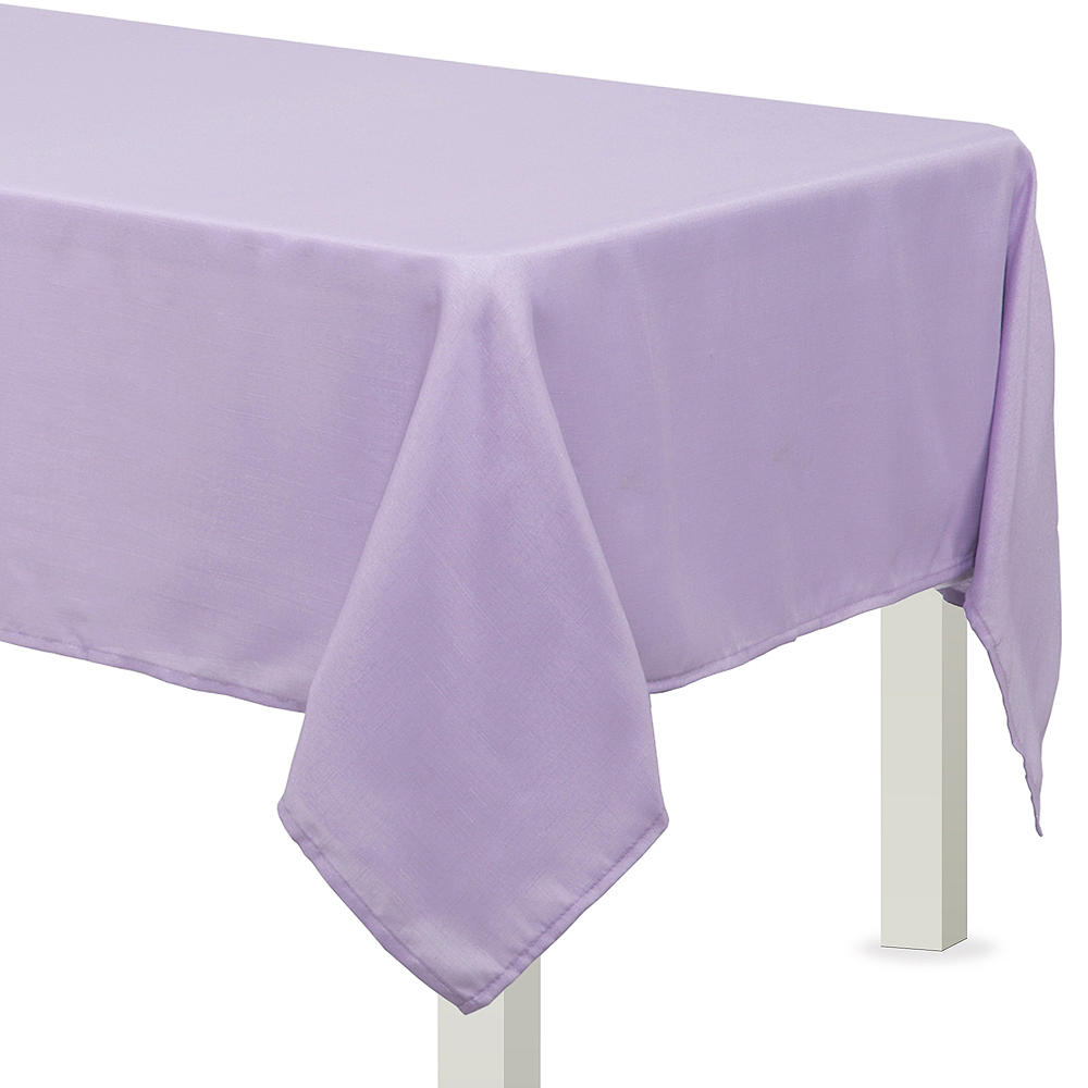 Lavender Fabric Tablecloth Image #1
