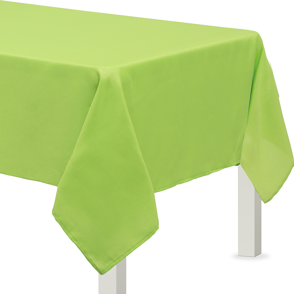Nav Item for Kiwi Green Fabric Tablecloth Image #1