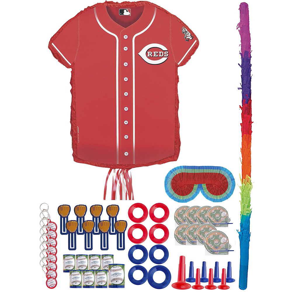 hot sale online 23113 6e787 Pull String Cincinnati Reds Pinata Kit with Favors 18in x 19 3/4in