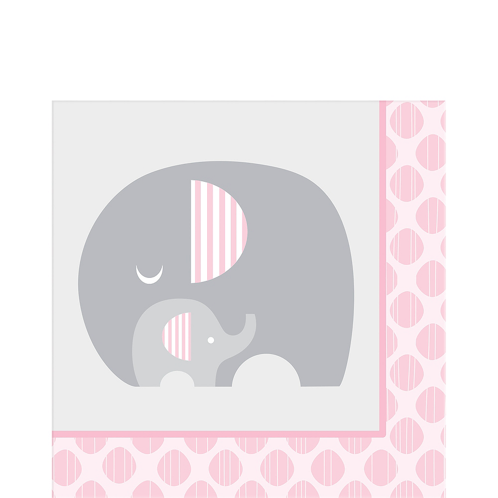 Pink Baby Elephant Lunch Napkins 16ct Image #1