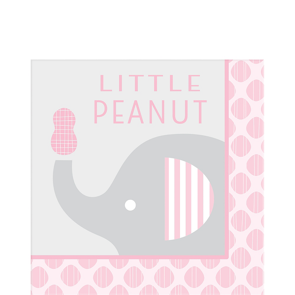 Pink Baby Elephant Little Peanut Lunch Napkins 16ct Image #1