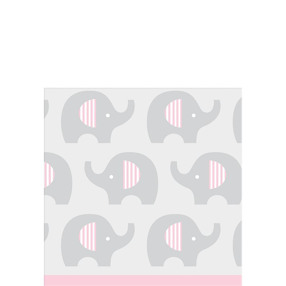 Pink Baby Elephant Beverage Napkins 16ct Image #1