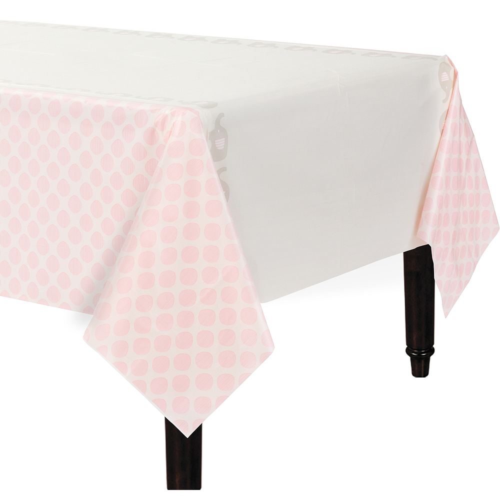 Pink Baby Elephant Table Cover Image #1