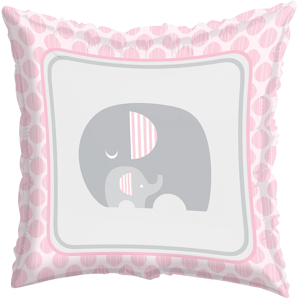 Pink Baby Elephant Balloon, 18in Image #1