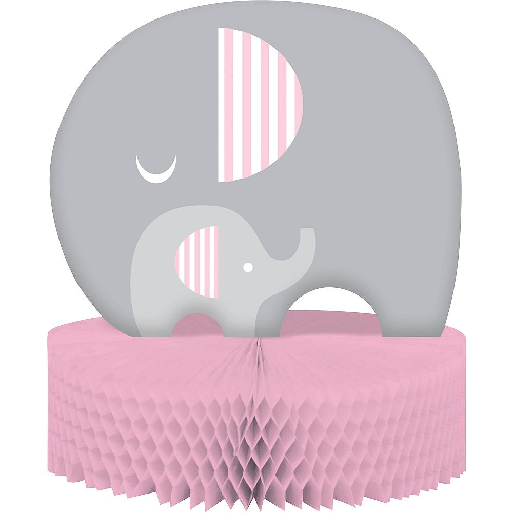 Pink Baby Elephant Honeycomb Centerpiece Image #1