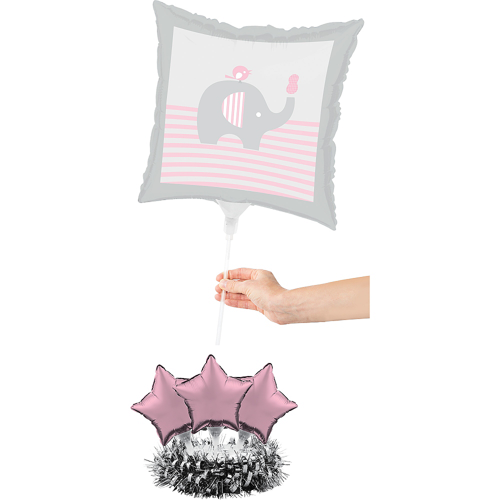Pink Baby Elephant Balloon Centerpiece Kit Image #2