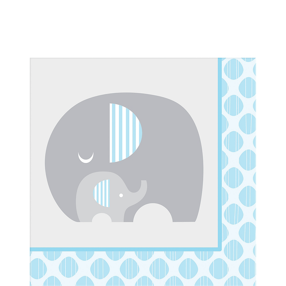 Blue Baby Elephant Lunch Napkins 16ct Image #1