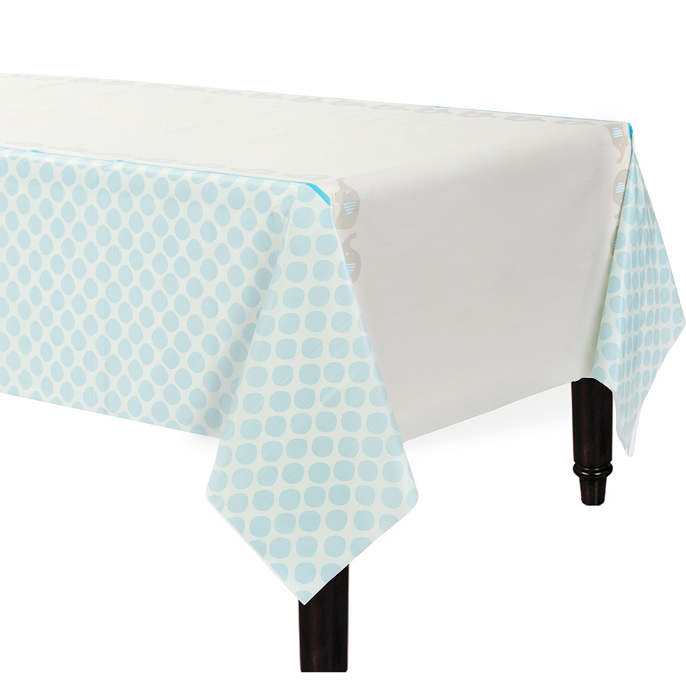 Blue Baby Elephant Table Cover Image #1