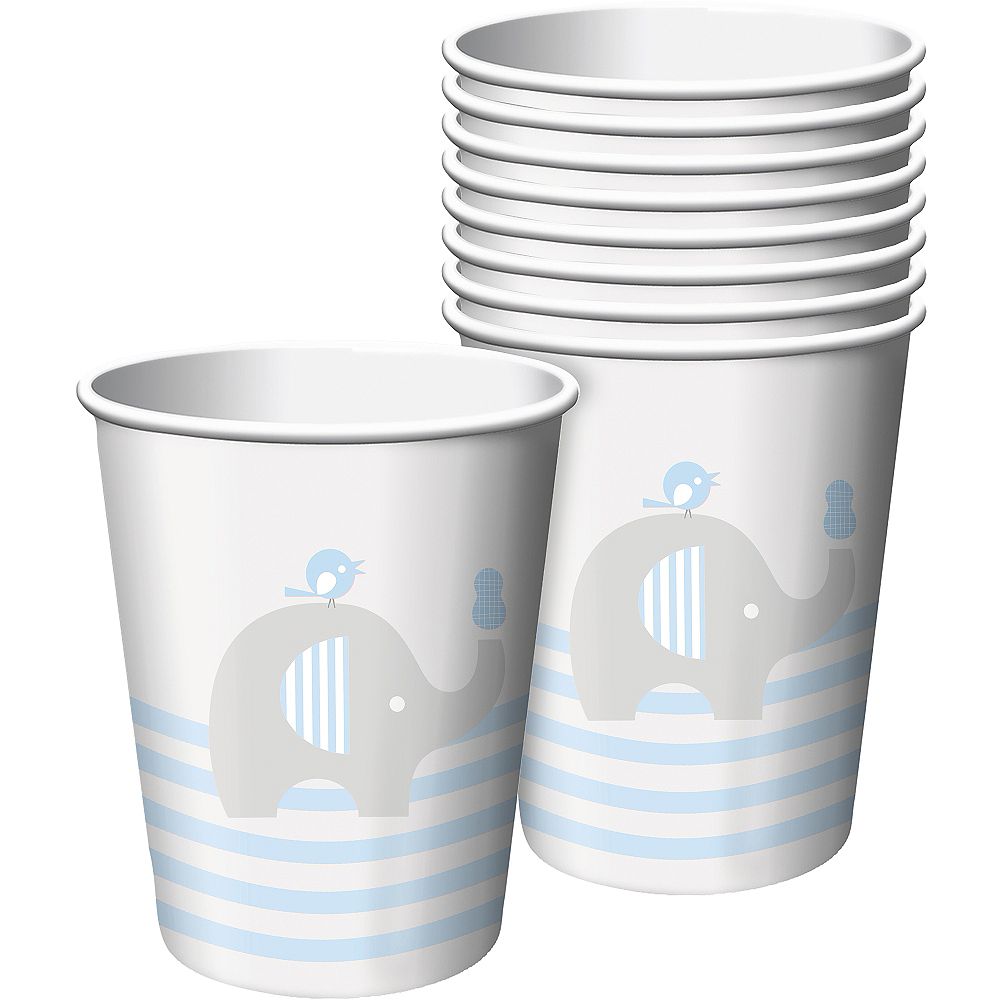Blue Baby Elephant Paper Cups 8ct Image #1