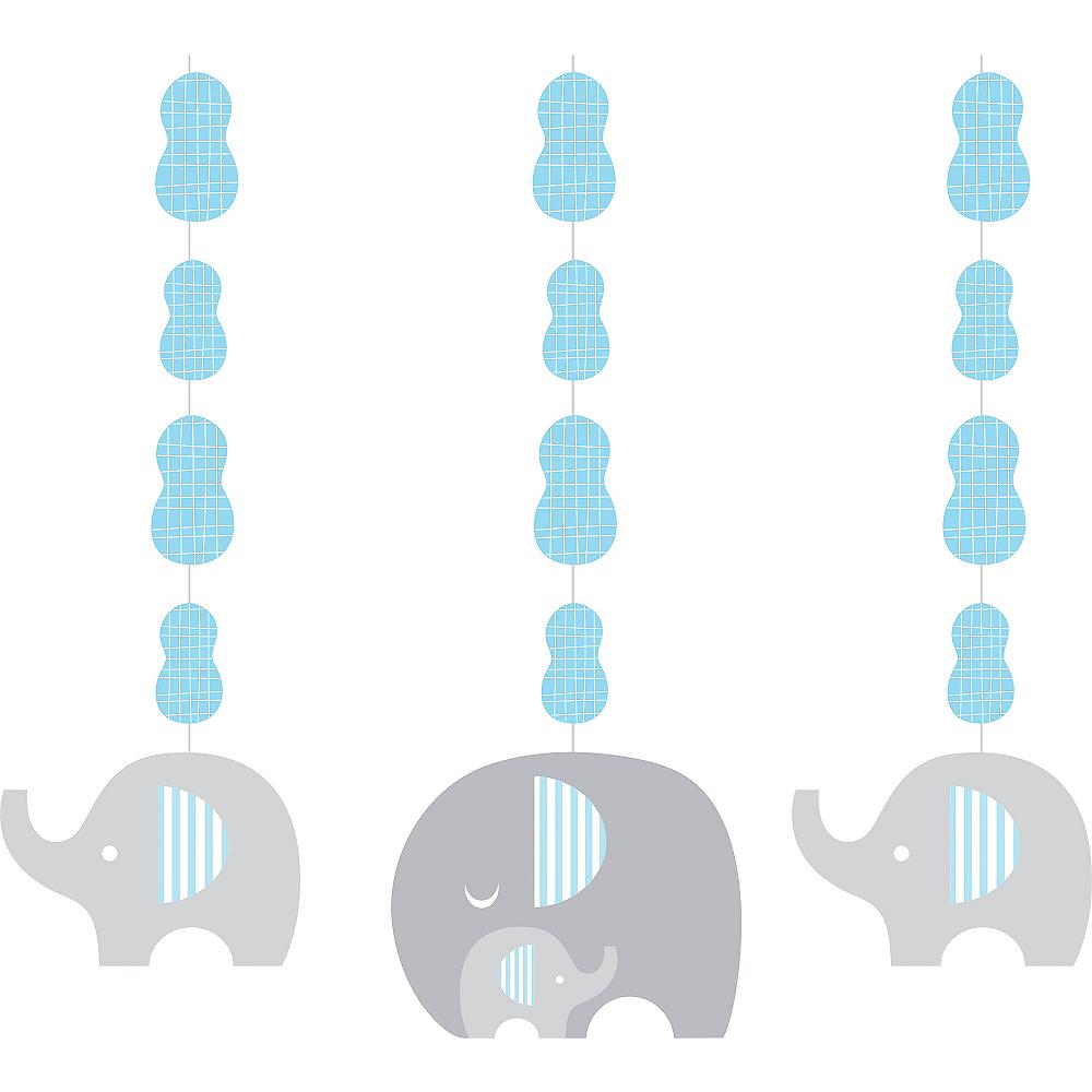 Blue Baby Elephant String Decorations 3ct Image #1