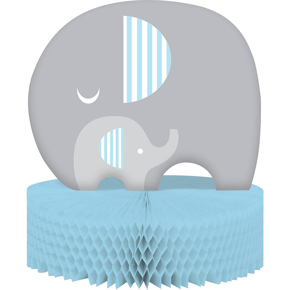 Blue Baby Elephant Honeycomb Centerpiece Image #1