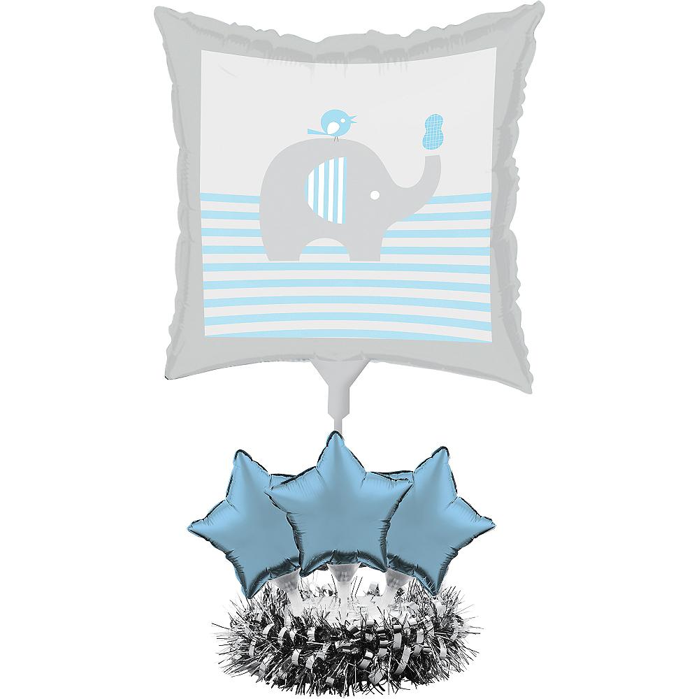 Blue Baby Elephant Balloon Centerpiece Kit Image #1
