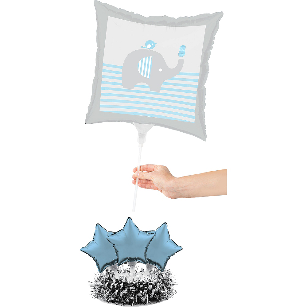 Blue Baby Elephant Balloon Centerpiece Kit Image #2