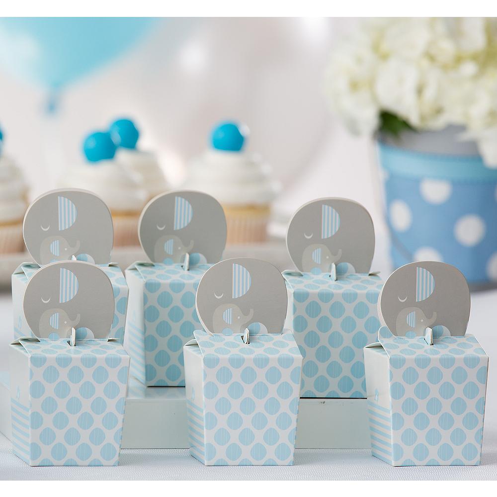 Blue Baby Elephant Treat Boxes 8ct Image #1