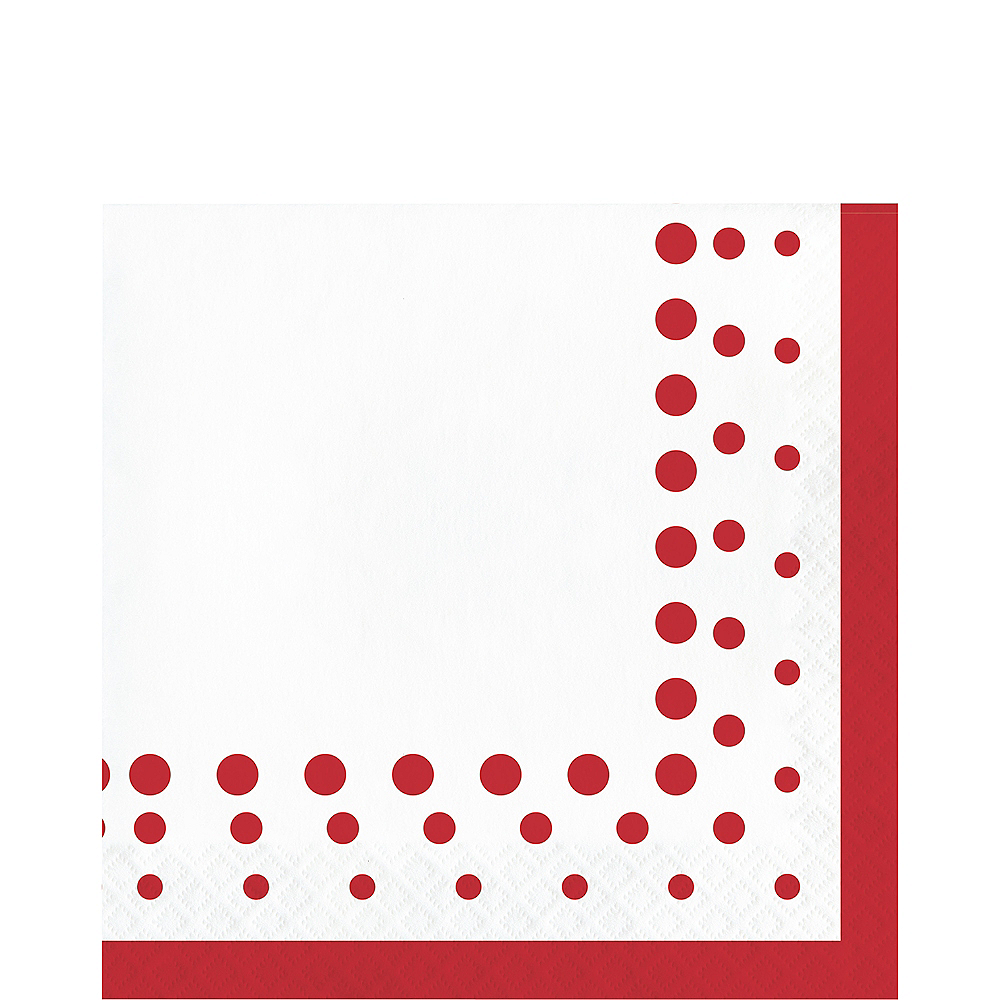 Ruby Dots Lunch Napkins 16ct Image #1