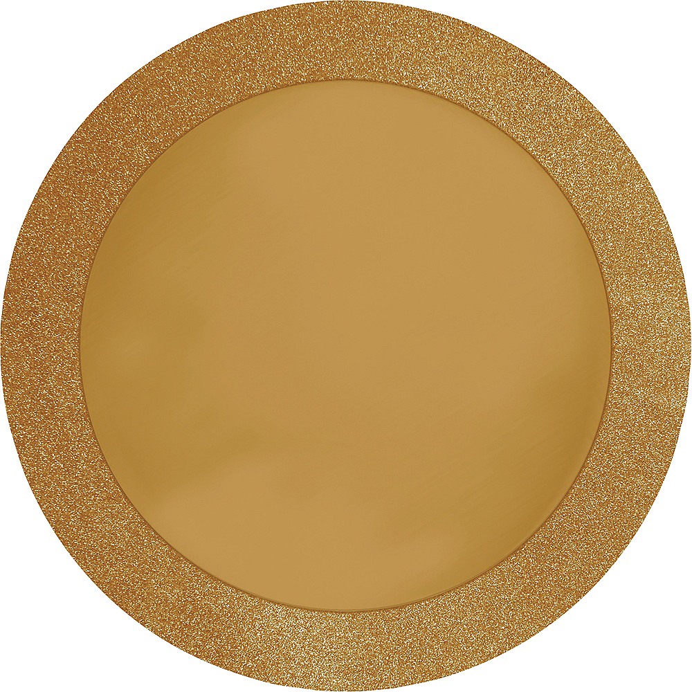 Glitter Gold Placemats 8ct Image #1