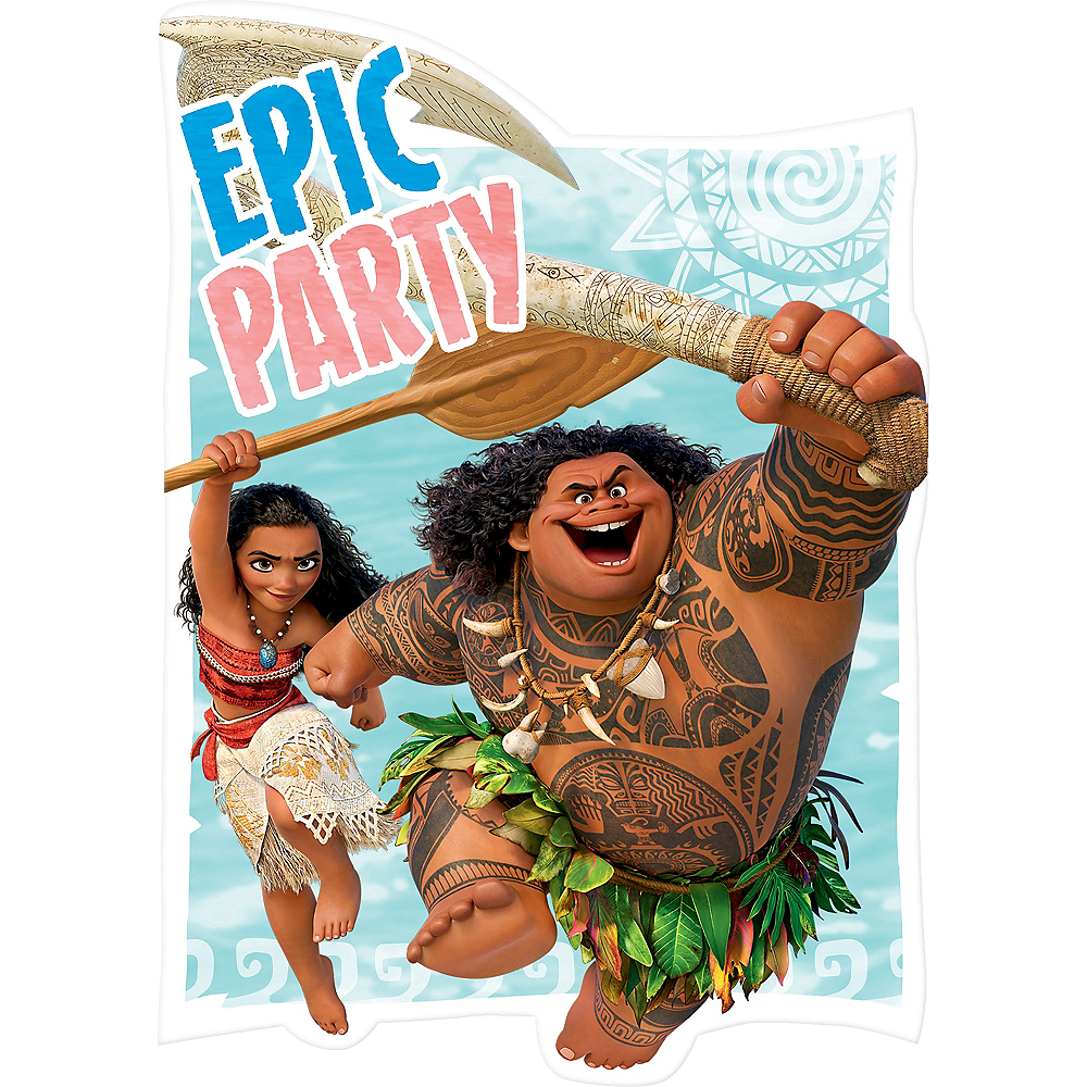 Moana Invitations 8ct Image 1