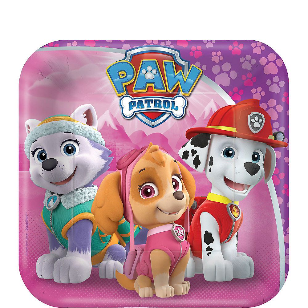 Pink Paw Patrol Dessert Plates 8ct Party City