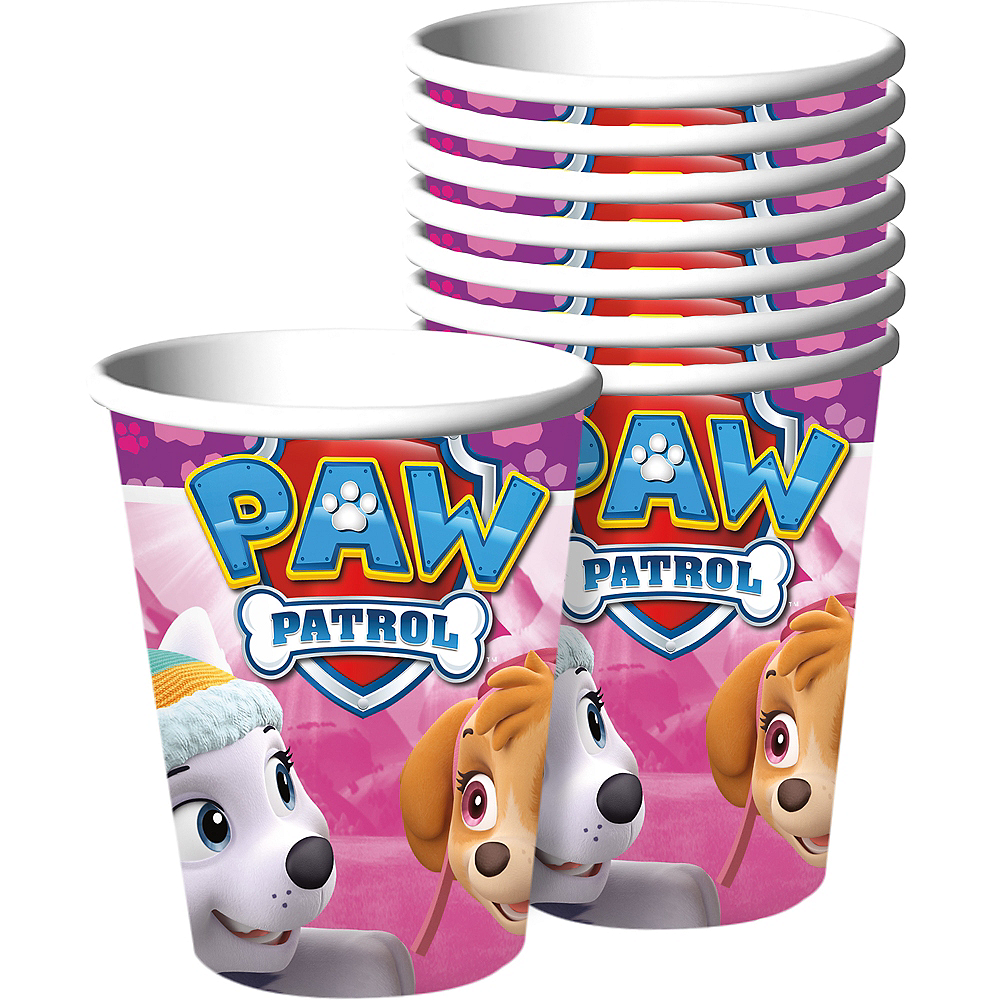 Pink Paw Patrol Cups 8ct Party City