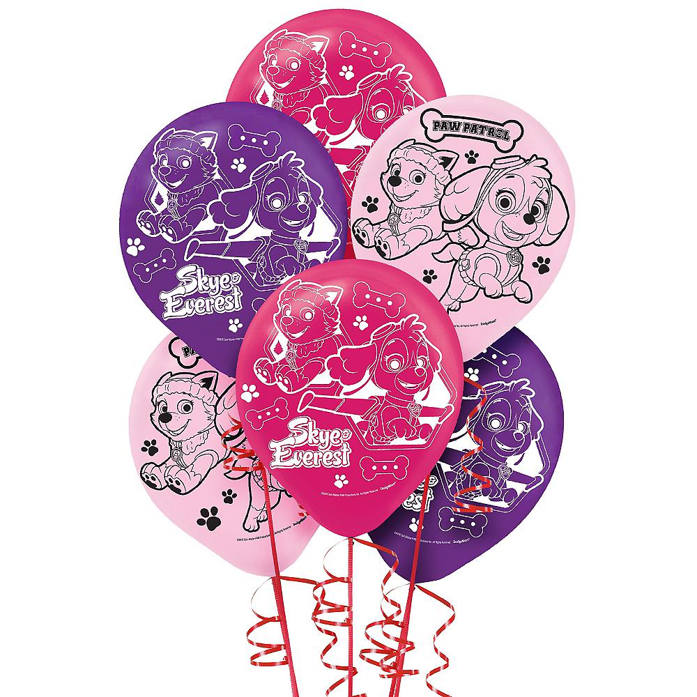 Pink PAW Patrol Balloons 6ct Image #1