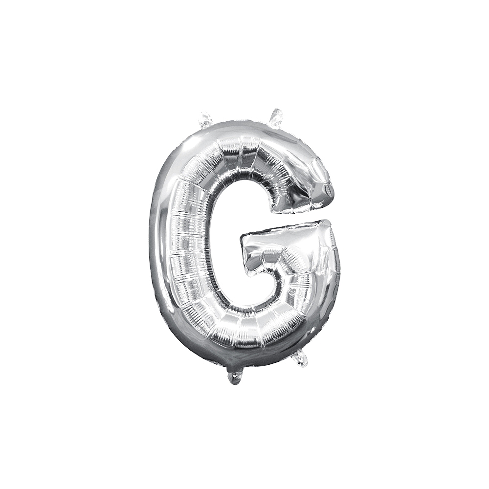 13in Air-Filled Silver Letter Balloon (G) Image #1
