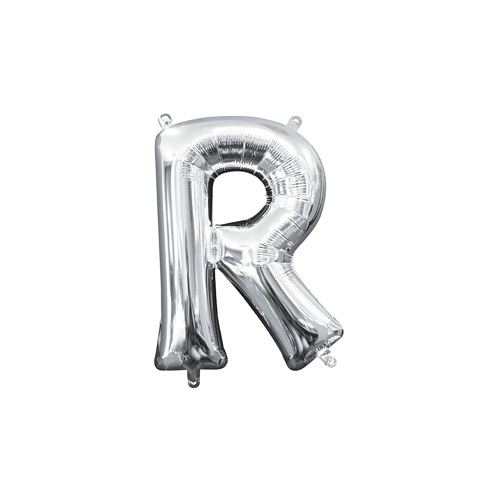 Nav Item for 13in Air-Filled Silver Letter Balloon (R) Image #1