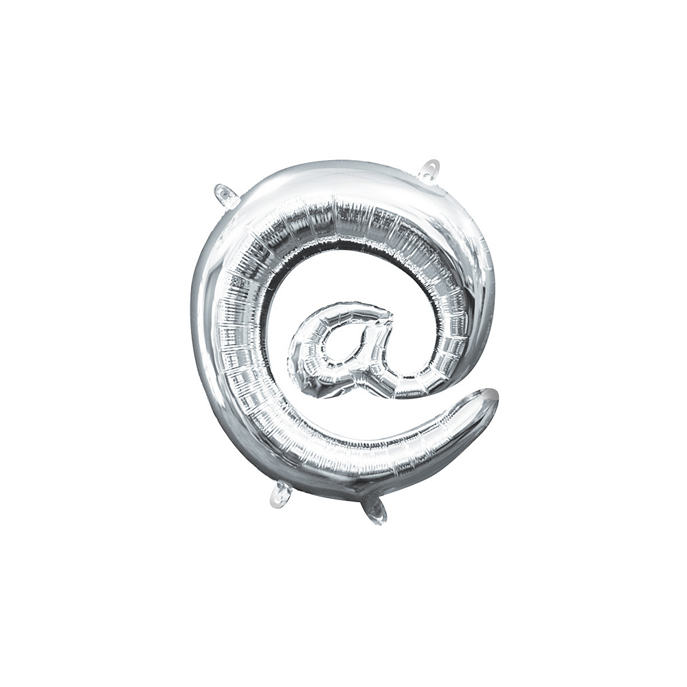 Air-Filled Silver At Symbol Balloon, 14in Image #1