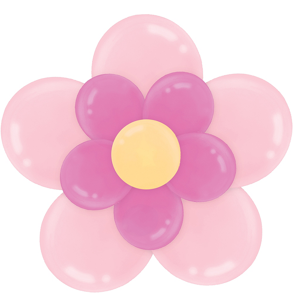 Pink balloon flower kit 24in x 18in party city pink balloon flower kit image 1 mightylinksfo