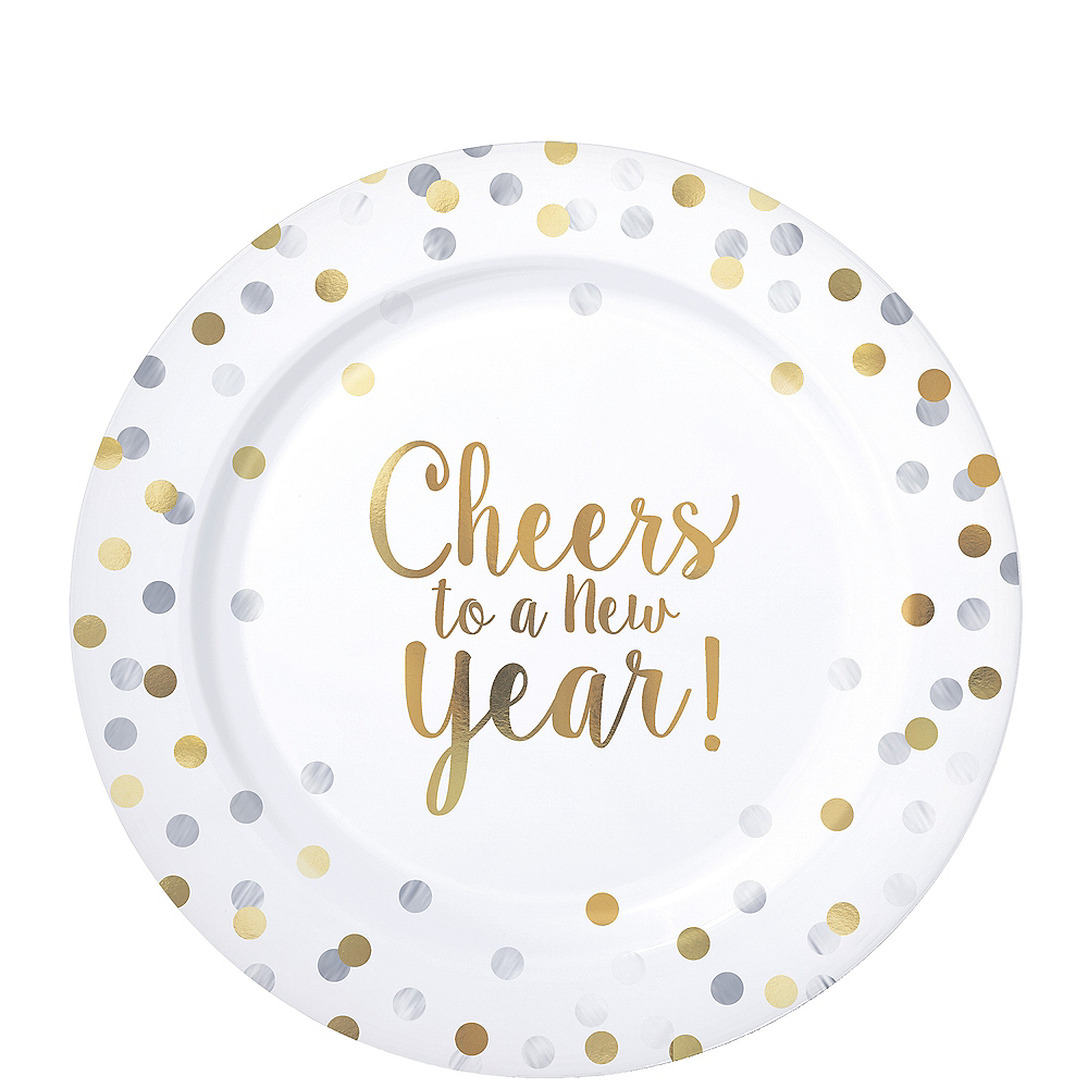 Cheers to a New Year Premium Plastic Lunch Plates 20ct Image #1