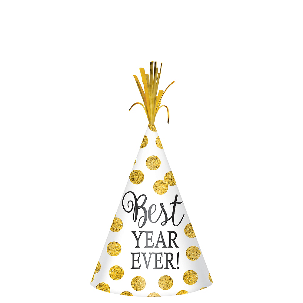 Glitter Polka Dot New Year's Party Hat Image #1