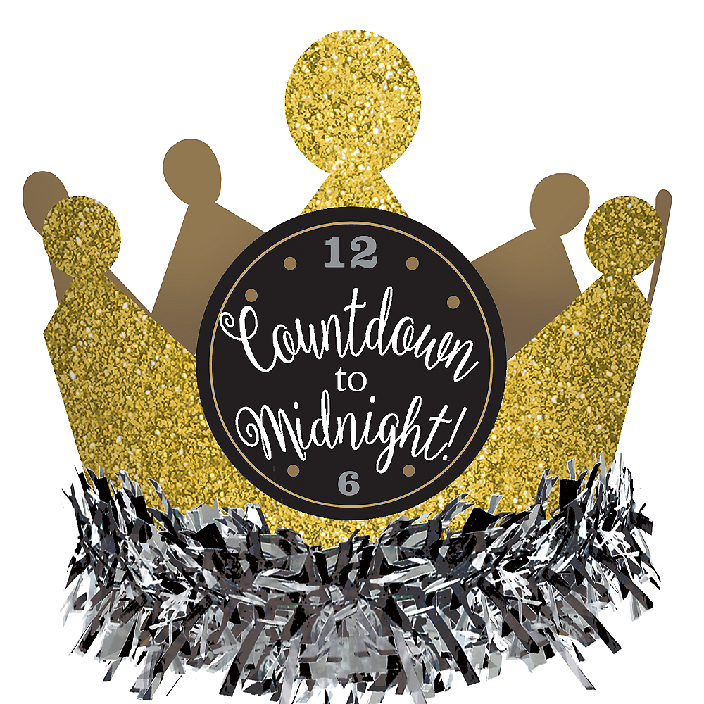 Nav Item for Black, Gold & Silver Mini Glitter Crown Image #2