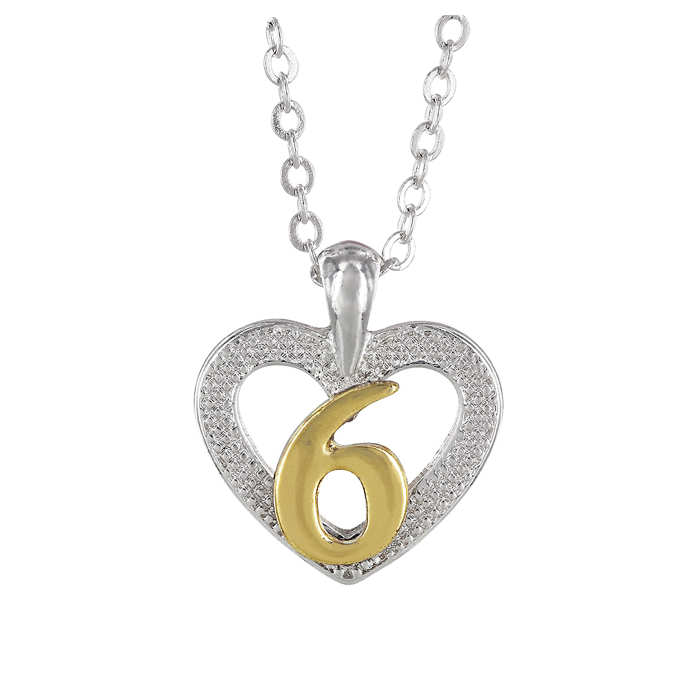 6th Birthday Heart Pendant Necklace with Case Image #1