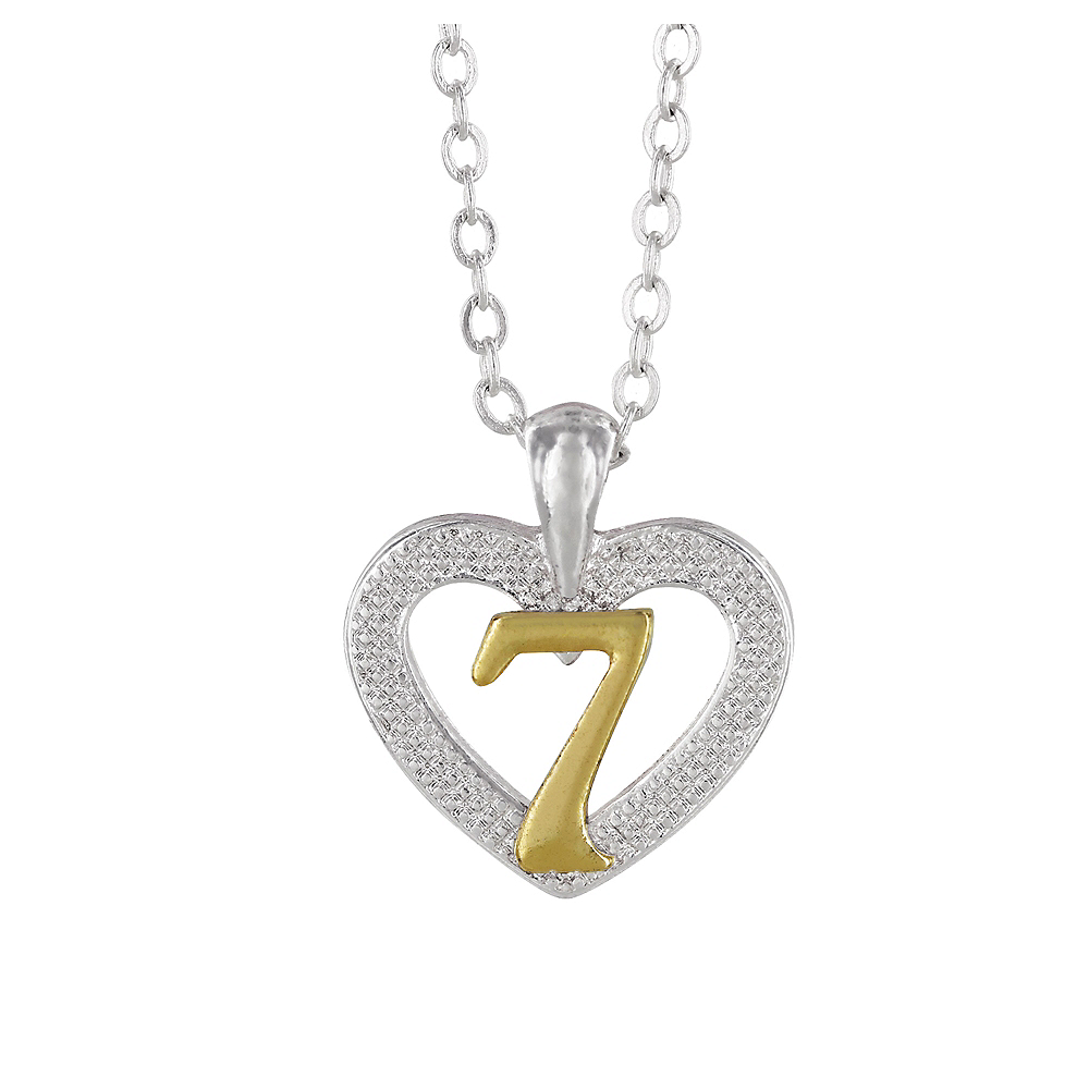 7th Birthday Heart Pendant Necklace with Case Image #1