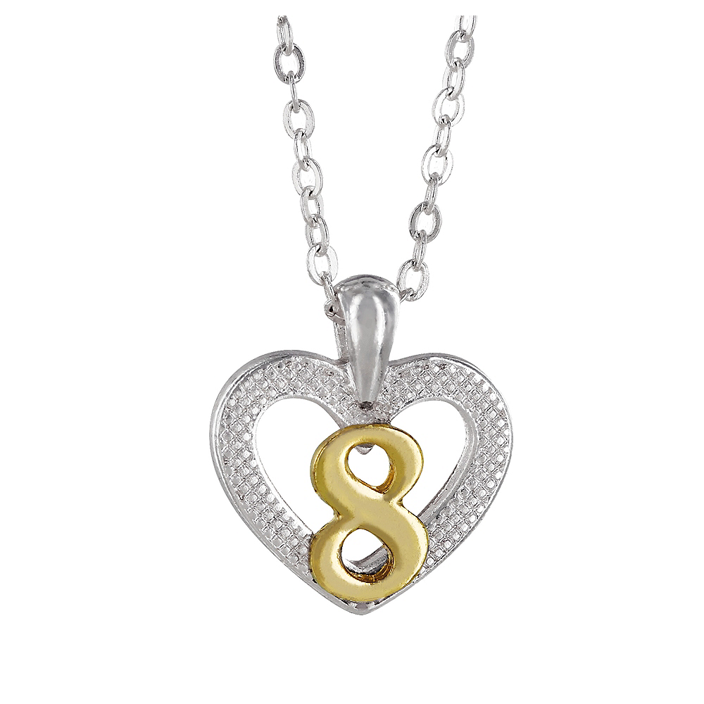 8th Birthday Heart Pendant Necklace with Case Image #1