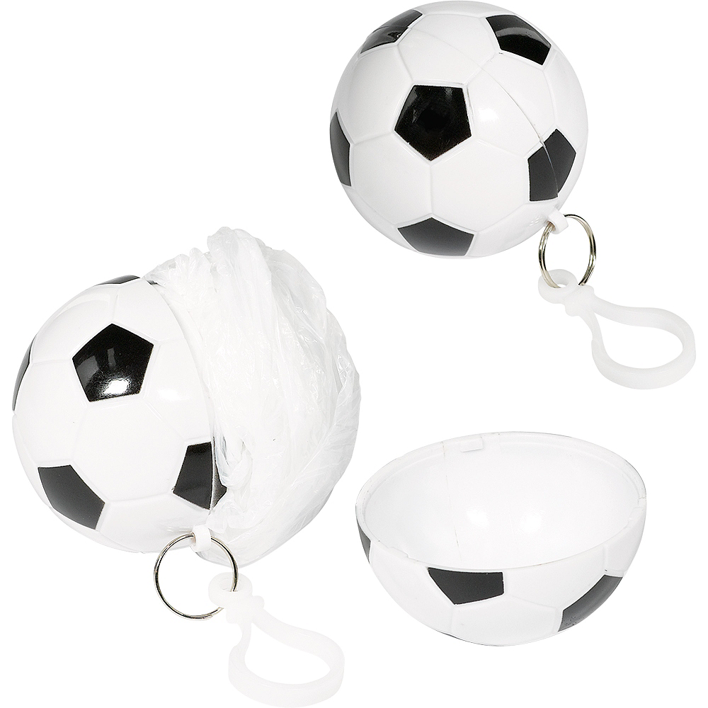Clip-On Soccer Ball Keychain Poncho Image #1