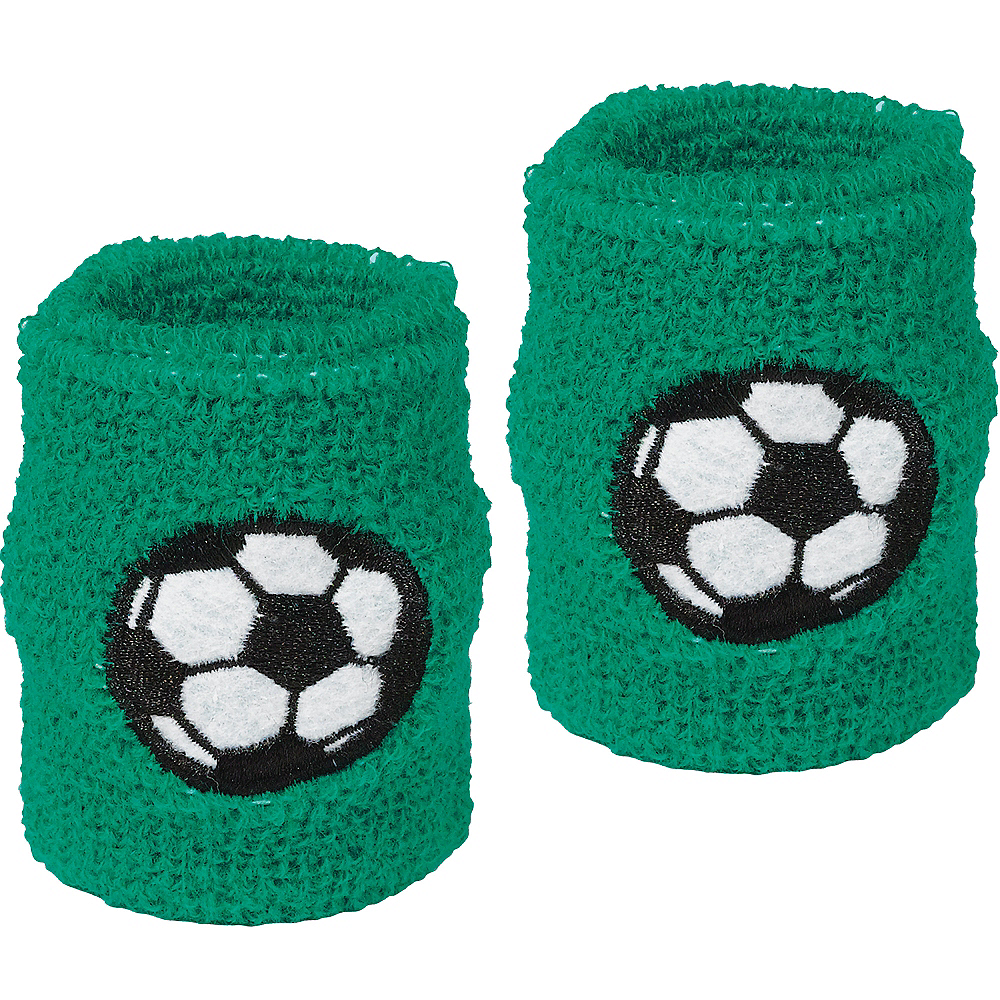 Soccer Ball Sweat Bands 2ct Image #1