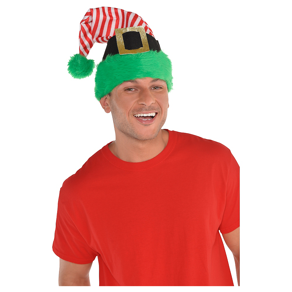Red Striped Elf Hat Image #2