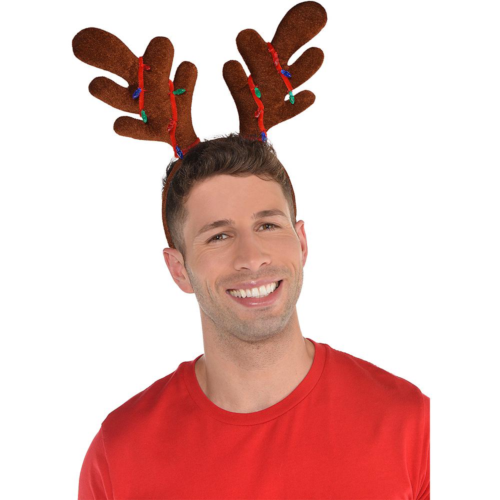 Christmas Lights Reindeer Antlers Headband Image #2