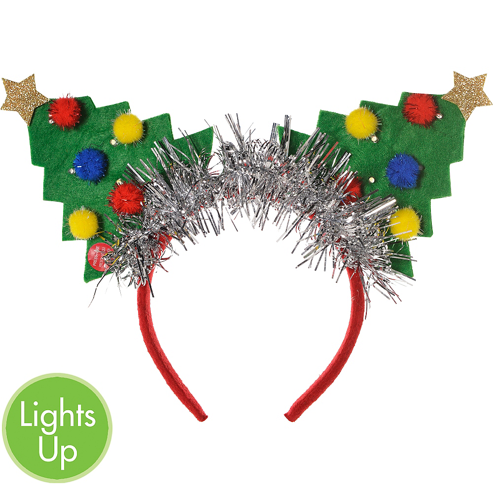 Nav Item for Light-Up Christmas Tree Headband Image #1