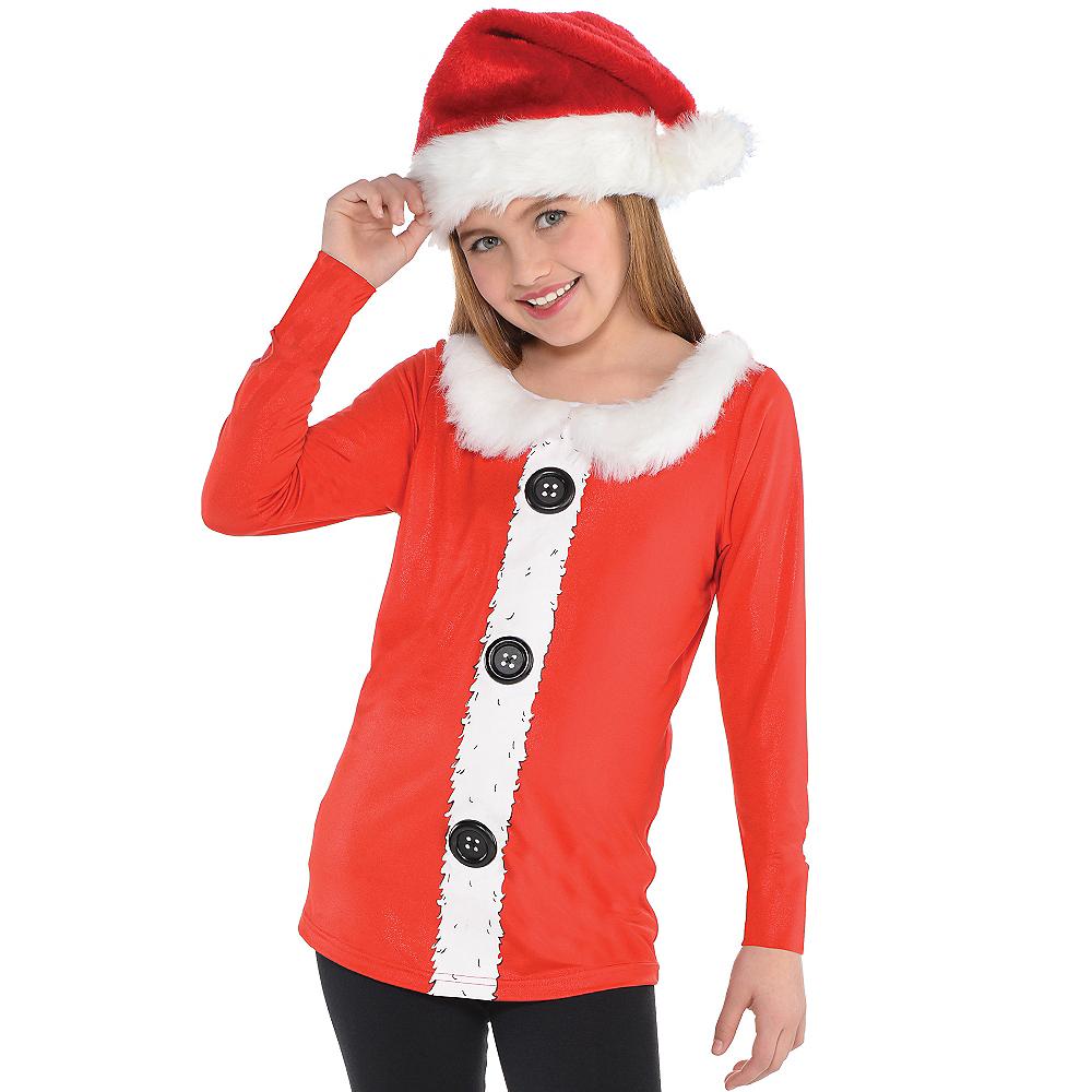 Girls Santa Long-Sleeve Shirt Image #2