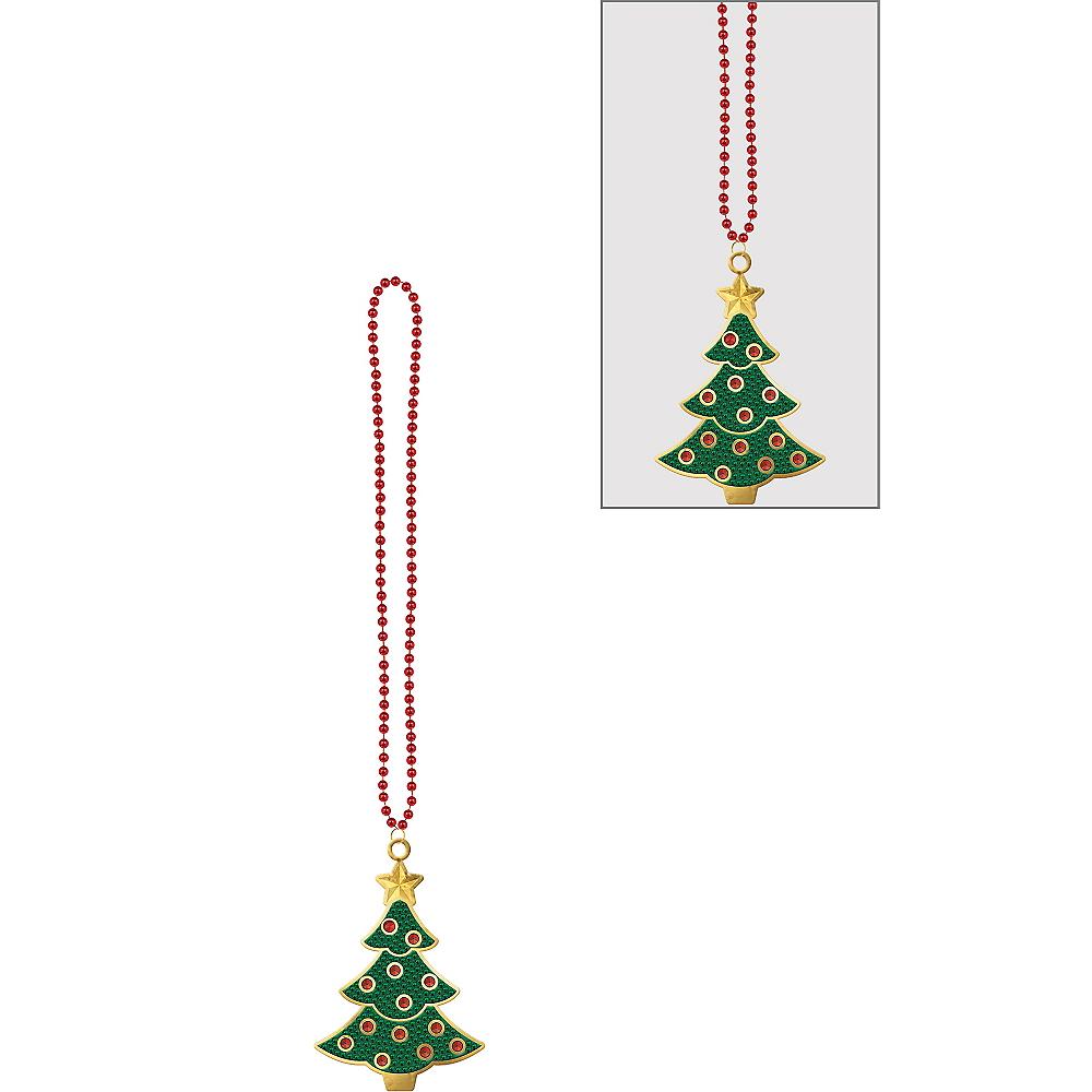 Christmas Tree Pendant Bead Necklace Image #1