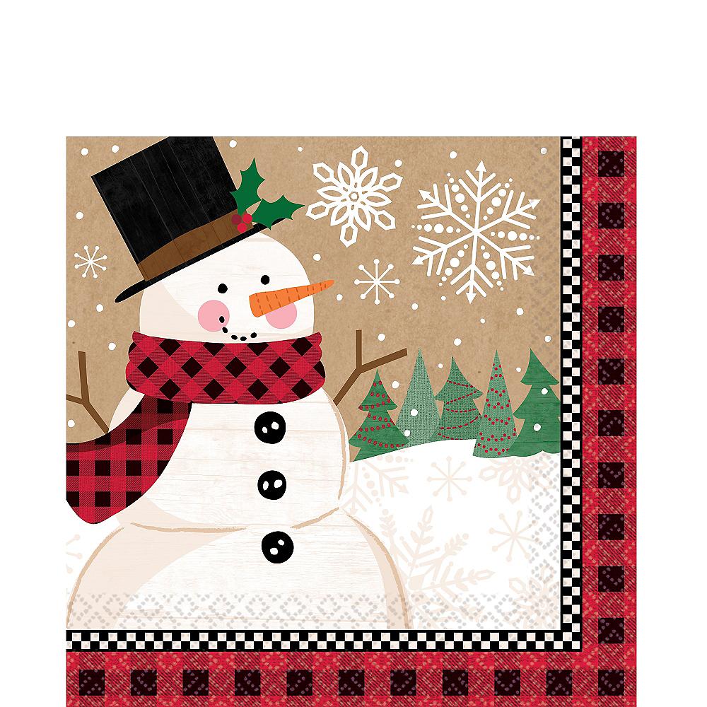 Winter Wonder Snowman Lunch Napkins 16ct Image #1
