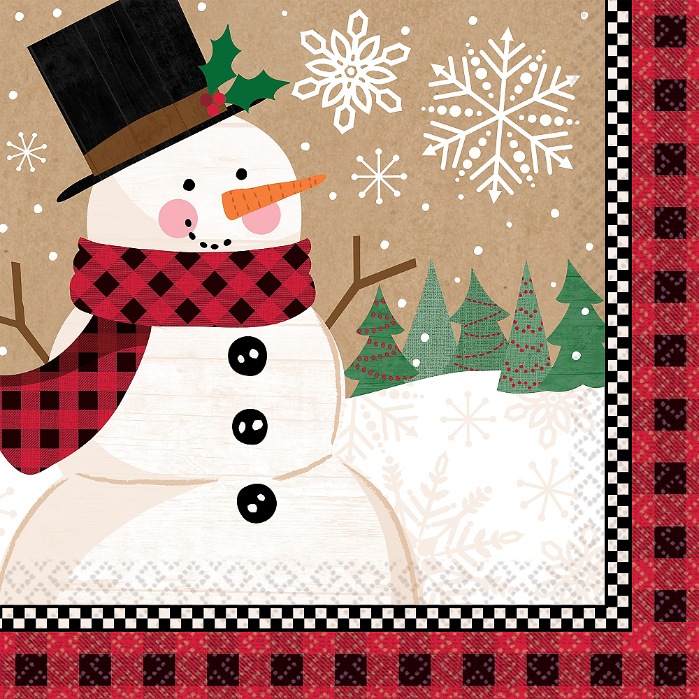 Winter Wonder Snowman Dinner Napkins 16ct Image #1